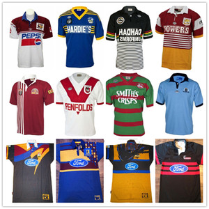 ingrosso coniglio s-Retro rugby Jersey Bull Highlanders Panthers Blue Bronco Chiefsss St George Maroons Hurricanes Crociati Coniglio Lan Holden Sea Eagles Parramatta Eels