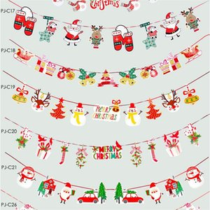 Wholesale christmas stores resale online - Christmas Pull Xmas Bunting Banners Flags Christmas Decoration For Home Outdoor Garden Store Party Xmas Banner Flag Pulling Decor EEC2712