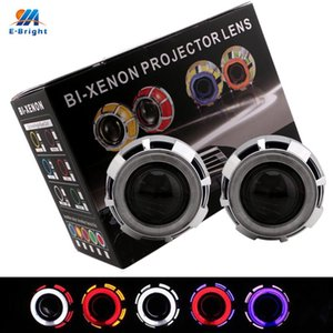Wholesale projector angel eyes resale online - YM E Bright Set Inches HID Bi Xenon Headlight Projector Lens angel Eyes K For H1 H4 H7