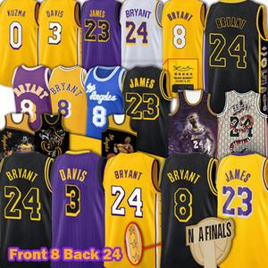 James LeBron Bryant James Jerseys Los AngelesLakersJersey Anthony Kyle Davis Kuzma Mamba Earvin Shaquille Johnson O'Neal Jerseys