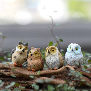Wholesale owls ornaments for sale - Group buy 4 style Micro Mini Fairy Garden Miniatures Figurines Owl Birds Animal Action Figure Toys Ornament Terrarium Accessories Movie Props