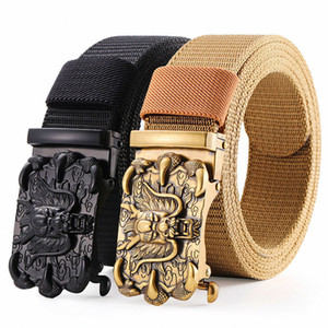 Wholesale military canvas belt buckle for sale - Group buy Military Tactical Nylon Dragon Belt Men Canvas Alloy Metal Dragon Design Automatic Buckle Belts Outdoor Sports Belts for Jeans