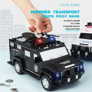 papel del camión  al por mayor-Passia de huellas dactilares Cash Truck Car Pycle Bank Kids Money Box Coin Paper Bank Safeting Saving Saving Box Alcancias Music Toy Regalo