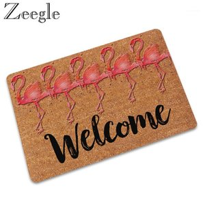 Wholesale outdoor rugs resale online - Zeegle Rubber Living Room Carpet Doormat Non slip Bath Mat Outdoor Rug Welcome Indoor Mat Waterproof Hallway Foot1