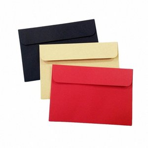 Wholesale cute vintage envelopes resale online - 100 Red Kraft Black Paper Envelope Cute Envelopes Vintage European Style For Card Scrapbooking Gift EsXb