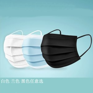 Wholesale black blue mask boys resale online - 99 Melt Blown Disposable Adult Three Layer Filter White Black Blue Sheet Mask Pack