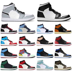 Wholesale free boys games resale online - With free socks HOT basketball shoes Mocha Obsidian running shoes men women s Bred Game Royal Crimson Tint sports sneaker trainer