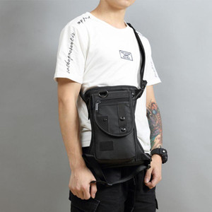 Wholesale leg pouch bag for sale - Group buy Men s Waist Pack Waterproof Leg Bag Drop Messenger Shoulder Bags Travel Motorcycle Tactical Chest Pouch Bum Hip Belt Purse