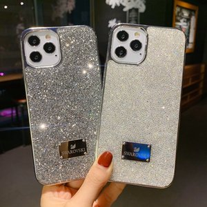 Wholesale black diamond apple resale online - Bling bling shiny phone cases cover for iPhone diamond shinning powder black edage hot selling new arrival case
