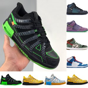 Wholesale pu dog resale online - Top quality white x rubber men basketball shoes black volt university gold silver blue dog walker fashion mens women sneakers trainers