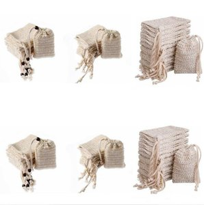 Wholesale bubble baths resale online - Bubbles Soap Bag Cotton Linen Saver Sack Pouch Storage Drawstring Bags Holder Surface Cleaning Drawstring Holder Bath Supplies DHC3231