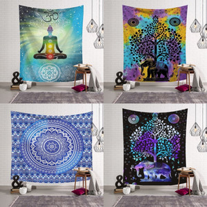 Wholesale decoration beach resale online - Mandala Style Artistic Beach Towel Polyester Fiber Multi Design Rectangle Decoration Pad Outdoor Swimming Shower Towels Hot Sale ls L2