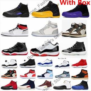 Wholesale gold class for sale - Group buy 12 Dark Concord XII Mens Basketball Shoes black university gold International Flight CLASS OF Michigan th Anniversary Bred Sneaker