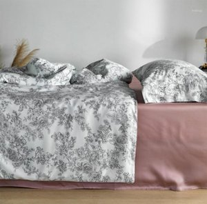 Wholesale king girl fashion resale online - Fashion pastoral floral bedding set adult teen girl full queen king rustic double home textile bed sheet pillow case duvet cover1