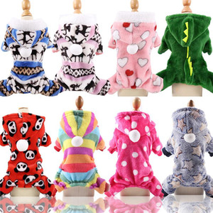 Wholesale sweaters for cats resale online - Pet Clothes for Dog Cat Puppy Hoodies Coat Winter Sweatshirt Warm Sweater Dog Outfits XS S M L XL XXL DHE2155