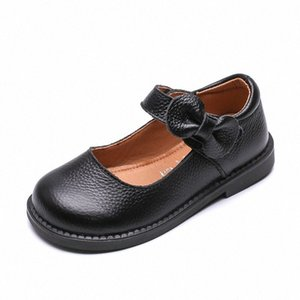 Wholesale leather shose resale online - Prinsess Fashion Bow Genuine Leather Shose Baby Girl Dress Party Shoe For School Children Big Kids Dance Shoe To P9r