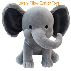 Wholesale pillow bolsters for sale - Group buy 2 Colors Kids Elephant Soft Pillow Stuffed Doll Cute Comfort Baby Elephant Plush Toy Elephant Sleeping Pillow Bolster Birthday Gift