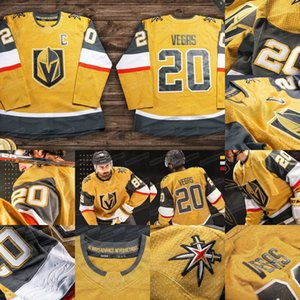 Vegas Golden Knights 2020 All Gold Third Jersey William Karlsson Ryan Reaves Marc-Andre Fleury Mark Stone Marchessault Tuch Nosek Smith