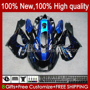 Bodys For YAMAHA Thunderace YZF1000R YZF-1000R 96 97 98 99 00 01 96HC.7 blue flames hot YZF 1000R 02 03 04 05 06 07 1996 1997 2007 Fairing