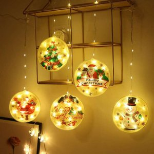 Wholesale personalizes christmas ornaments for sale - Group buy Christmas Light Leds Snowman Santa Clause Pendant Round DIY Family Greeting Xams Ornaments Personalized Christmas Decoration GWC3478