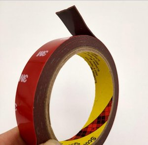 Wholesale 3m adhesive foam tape resale online - Seamless ultra strong M double sided adhesive foam sponge thin waterproof tape high temperature automotive vehicle