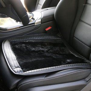 Wholesale car covers for sale resale online - Sale cashmere car seat covers Single seat without backrest Elegant auto sheepskin cover for front seat1