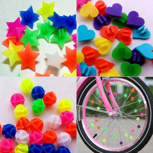 ingrosso perline a forma di cuore amore-Colorful Bicycle Catena Decorazione Bambini Star Bead Love Heart Fashion Accessori a forma di Bambini Bambini Clip ruota Bike Spoke all aperto GT K2