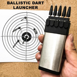 Wholesale bow hunting for sale - Group buy Dart Shooting Ballistic Darts Launcher Knives Outdoor camping Survival Self Defense hunting Tool Adult Gifts Toys