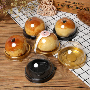 Round Egg Yolk Biscuit Plastic Blister Box Little Cake Packing Box Blister Box Wholesale Two Style Twos Colors