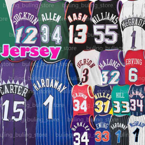 charles barkley venda por atacado-Grant Hill Ewing Olajuwon Jersey Patrick hakeem Steve Nash Tracy Penny HARDAWAY McGrady Charles Jason Barkley John Williams Stockton