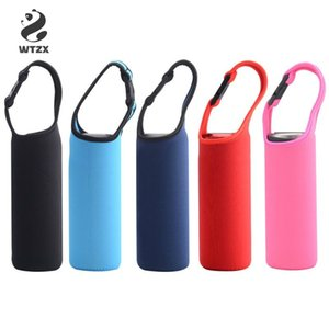 Wholesale water bottle insulation sleeves resale online - Heat Insulation Water Bottle Cover Case Portable Insulator Sleeve Bag Pouch Outdoor Carrier With Snap Buckle For ML Dia cm