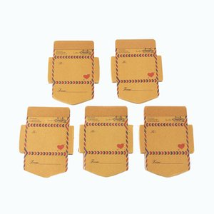 Wholesale shaped sticky notes for sale - Group buy 5pcs Envelope shaped special shaped notepads message notes sticky notes retro kraft paper message cards with high quality