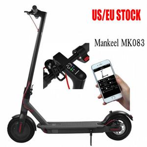 Mankeel US UK Stock Bluetooth Smart APP Control Folding Electric Scooter 8.5 Inch Tire Ebike 2 Wheel Electric Bike Scooter MK083