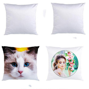 Sublimation Pillowcase Heat Transfer Printing Pillow Covers Sublimation Blanks Pillow Cushion 40X40CM Polyester Pillow Covers Wholesale