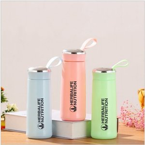 Wholesale shake bottles for sale - Group buy Herbalife Nutrition Milk Shake Protein Creative Water Bottle ml Plastic Glass Double Insulation Shake Bottle Various Colors