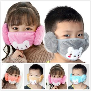 Wholesale mouth masks for winter resale online - Popular In Ear Protective Bear Face Mask Children Mouth Mask Anti Dust Face Masks Winter Mouth Muffle Earflap For Kids EEC2922