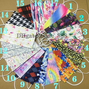 Wholesale faces pack resale online - 36 styles Adult mask fashion printing pack Designer Face mask Fashion layer Christmas Halloween Non Woven Disposable Mask