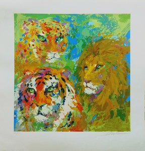 Wholesale tiger abstract oil paintings resale online - quot FAMILY PORTRAIT quot LION TIGER LEOPARD Home Decor Handcrafts HD Print Oil Painting On Canvas Large Wall Art Canvas Picture