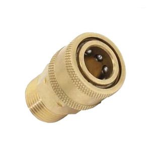Wholesale flexible motor shaft couplings resale online - Pressure Washer Quick Release Mini M22 Female to Male Brass Coupling Brass Flexible Motor Shaft Coupling Coupler Motor1