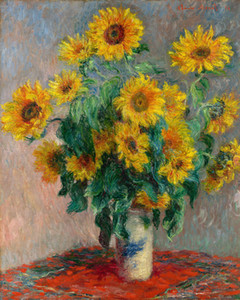 Wholesale painting sunflowers resale online - Claude Monet Bouquet of Sunflowers Home Decor Handcrafts HD Print Oil Painting On Canvas Wall Art Canvas Pictures