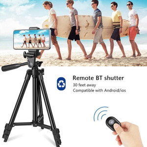 Wholesale smartphone tripod stand for sale - Group buy Portable Smartphone Camera Tripod Selfie Live Phone Stand Holder with Bluetooth Remote Shutter Handbag for DSLR Camera1