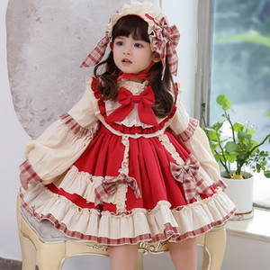 kinder winter brautkleider großhandel-Weihnachtskleid für Mädchen Baby Herbst Winter Navidad Lolita Mädchen Wedding Dress Mädchen Ballkleid Prinzessin Party Kids Vestidos