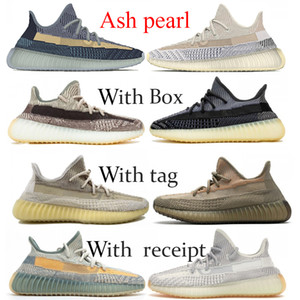 New Kanye Ash pearl blue stone men women Running shoes Zebra Fade Oreo Linen basketball sneakers Cinder black static Reflective trainers