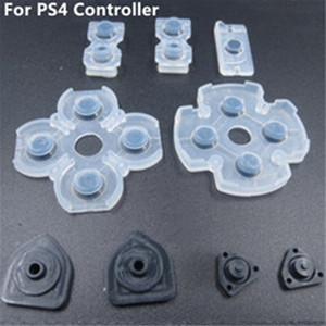Syytech Free Shipping 9 pcs in 1 Set Soft Controller Conductive Silicone Rubber Pads Kit for PlayStation 4 PS4 Buttons Repair Parts