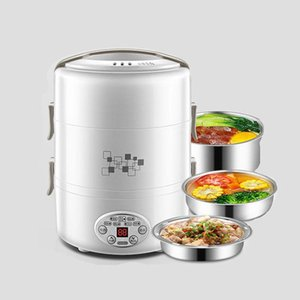 Wholesale stainless steel rice cookers for sale - Group buy 220V Multifunction Electric Lunch Box Layer Stainless Steel Liner Rice Cooker L Containers Insulation Heating