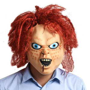 Wholesale halloween props terror masks for sale - Group buy new Child s Play Chucky Mask Terror Halloween Scary Adult Full Head Prop Cosplay costume Latex Masks