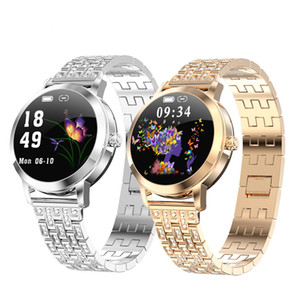 Wholesale watch women golden resale online - LW10 Fashion Smart Watch Women Heart Rate Blood Pressure Message Call Reminder IP68 Waterproof Smartwatch for Android IOS Fitness Tracker