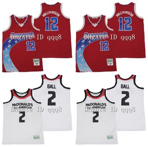 ingrosso pullover di basket americano-Zion Williamson Spartanburg Day School Griffins Lonzo Ball McDonalds All American High School Jerseys Basket