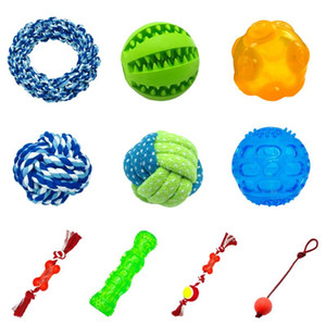 Wholesale large rope balls for sale - Group buy Durable Dog Toys Interactive Cotton Rope Pet Puppy Dog Toy Chew Ball Squeaky Bite Resistant Toys For Small Large Dogs Training