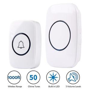 110DB Wireless Doorbell Waterproof home Door Bell battery 1 button 1 2 3 Receiver
